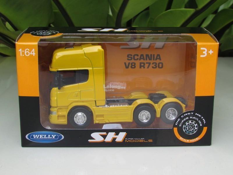 Welly 1/64 Diecast SCANIA V8 R730 (6x4) 6 WHEEL TRACTOR UNIT TRUCK