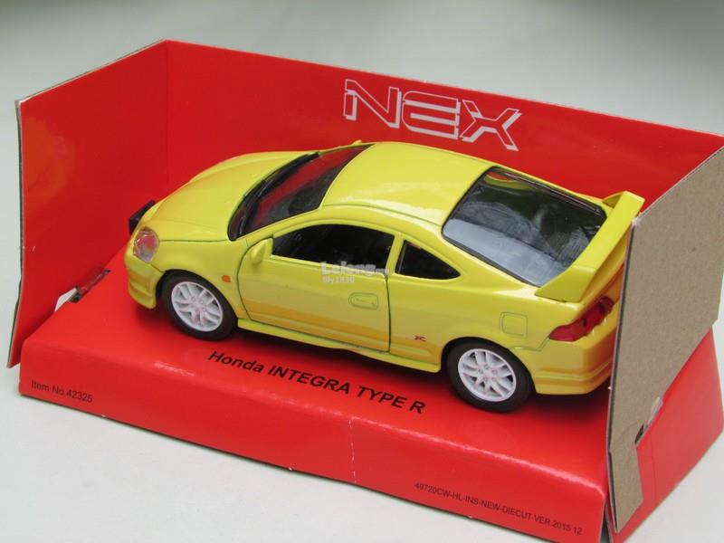 Welly (11cm) Diecast Honda Integra Type R 2010 DC5 Yellow Sports Car