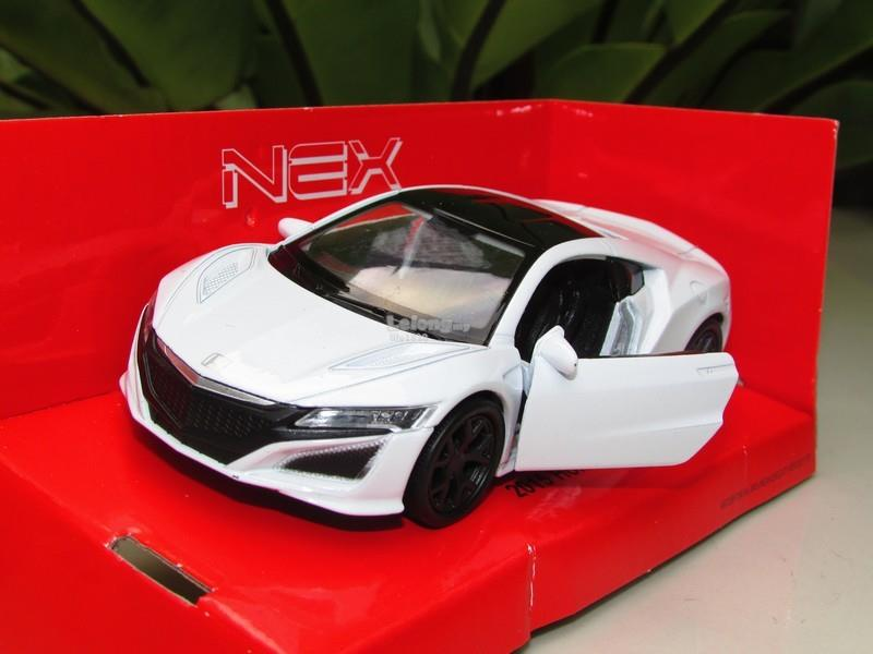 Welly (11cm) Diecast Model 2015 Honda Acura NSX Red Sport Car