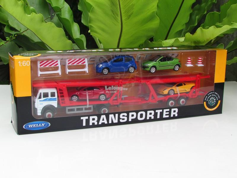 Welly1/60 Mercedes Benz Actros 2488 Transporter Car Carrier Truck 30cm
