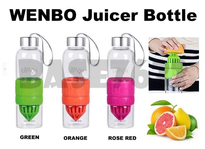 WENBO Citrus Fruit Lemon Press Juicer Water Maker Detox Glass Bottle