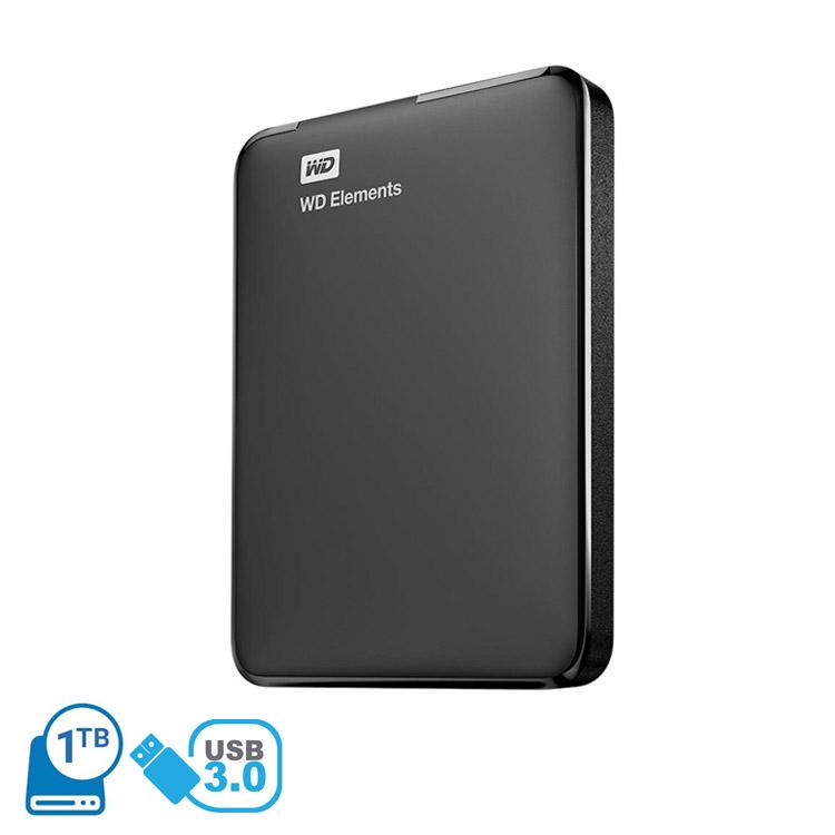 f99a74483c Western Digital 1TB Elements USB 3.0 Portable External Hard Disk Driv