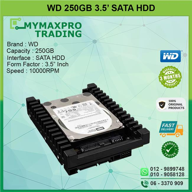 NEW Western Digital 250GB 10Krpm 3.5' SATA HDD WD2500HHTZ
