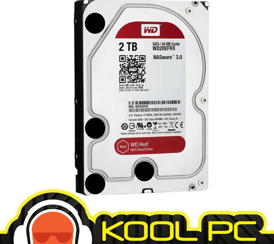 * Western Digital 2TB 5400rpm 64mb SATA RED - WD20EFRX