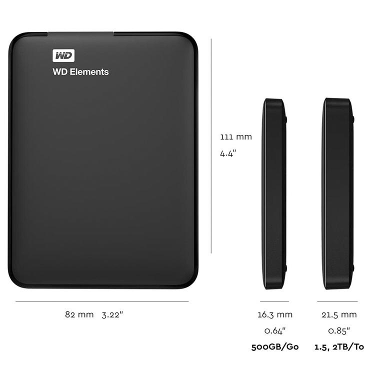 Western Digital 2TB Elements USB 3 0 Portable External Hard Disk Drive