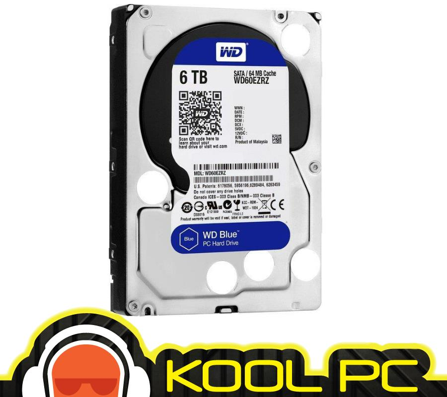 * Western Digital 6TB 5400rpm 64mb SATA BLUE - WD60EZRZ