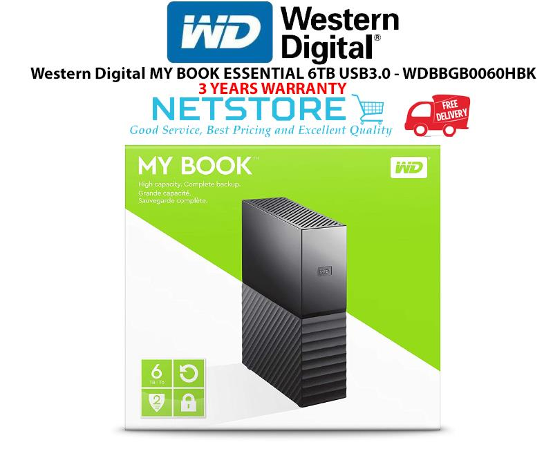 Western Digital MY BOOK ESSENTIAL 6TB USB3 0 - WDBBGB0060HBK