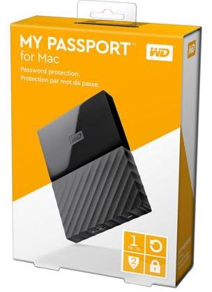WESTERN DIGITAL MY PASSPORT FOR MAC 1TB EXT HDD (WDBFKF0010BBK) BLACK