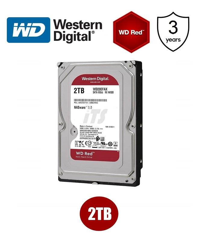 Western Digital Red 3.5' 2TB SATA HDD - NAS