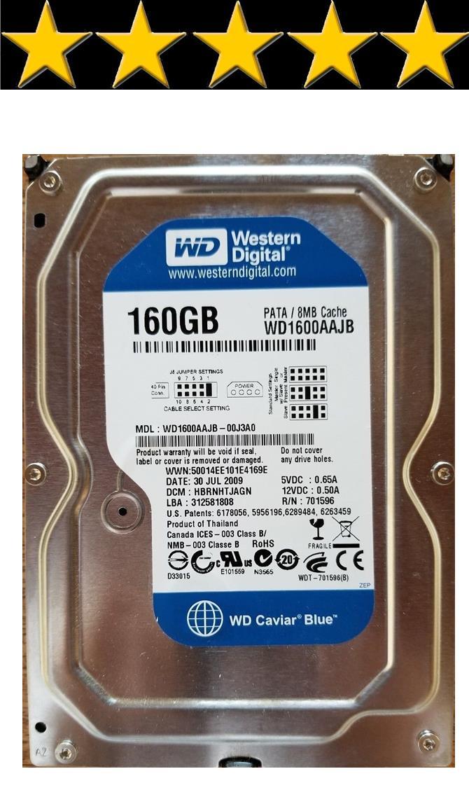 Western Digital Seagate Hitachi 160GB 3 5' IDE PC Computer Hard Disk