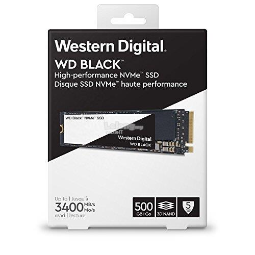 WESTERN DIGITAL SSD M 2 PCIE NVME BLACK 500GB (WDS500G2X0C)