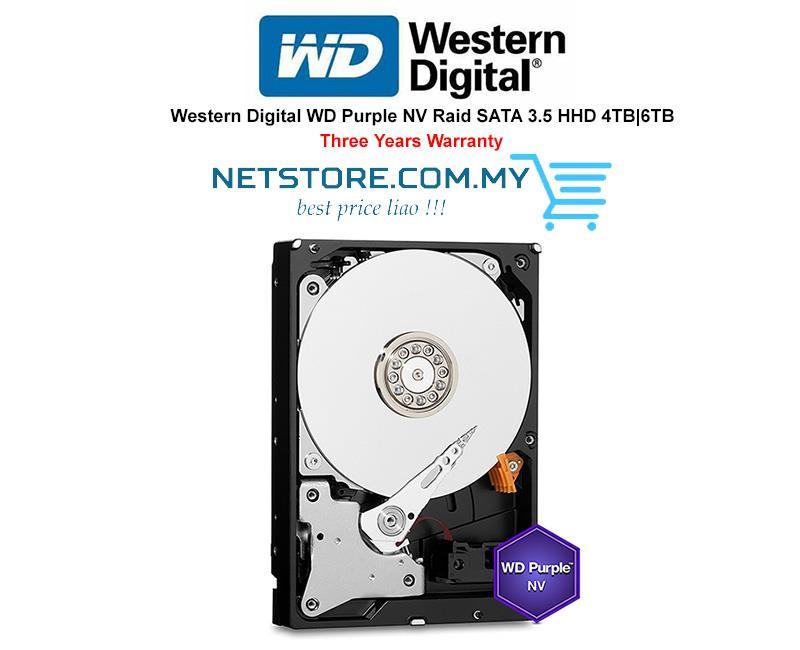 Western Digital WD Purple NV Raid SATA 3 5 HHD 4TB|6TB