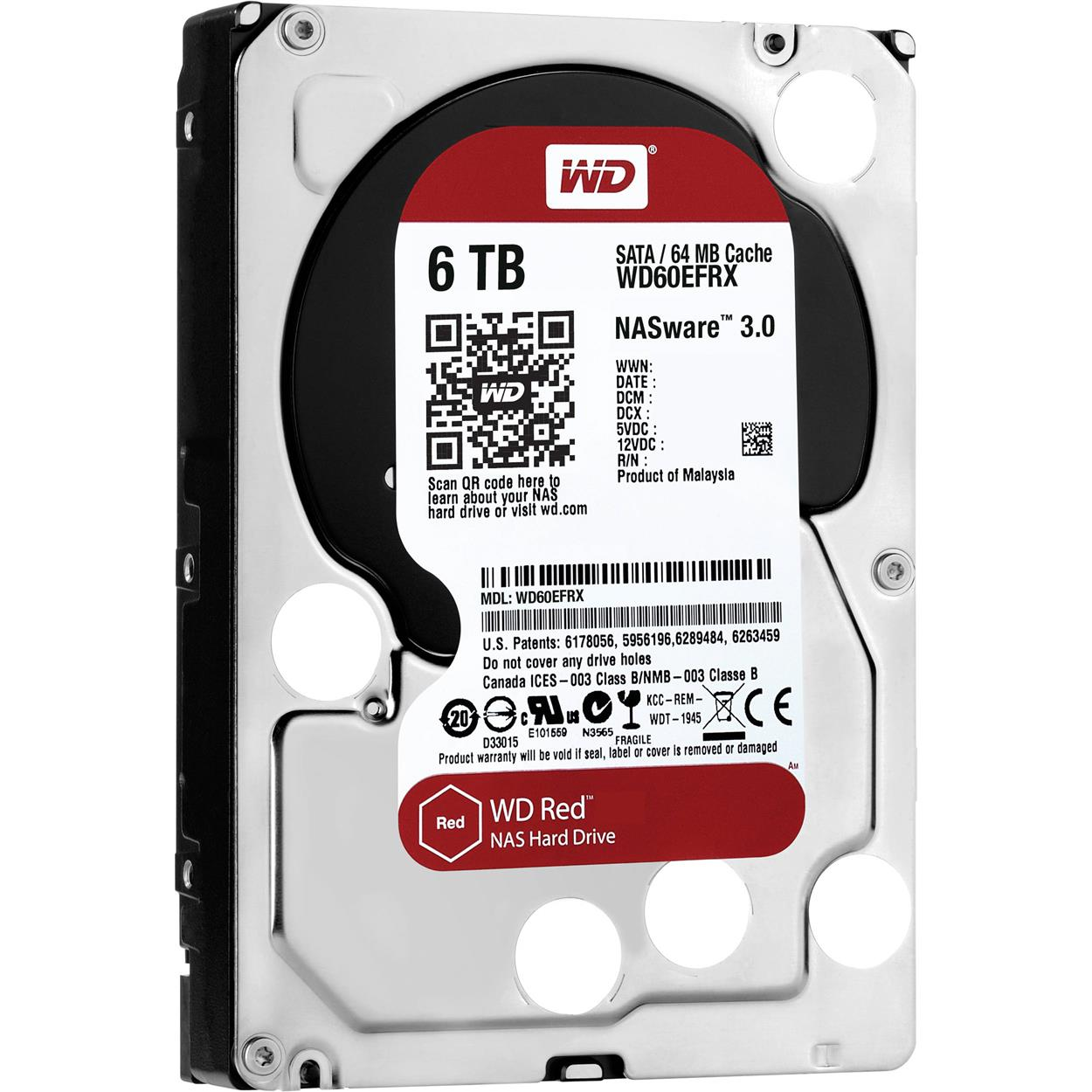 WESTERN DIGITAL WD RED NAS 6TB  HARDDRIVE WD60EFRX
