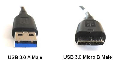 Western Digital WD USB 3.0 Type A Male to Micro B Cord Cable 1.2 Meter