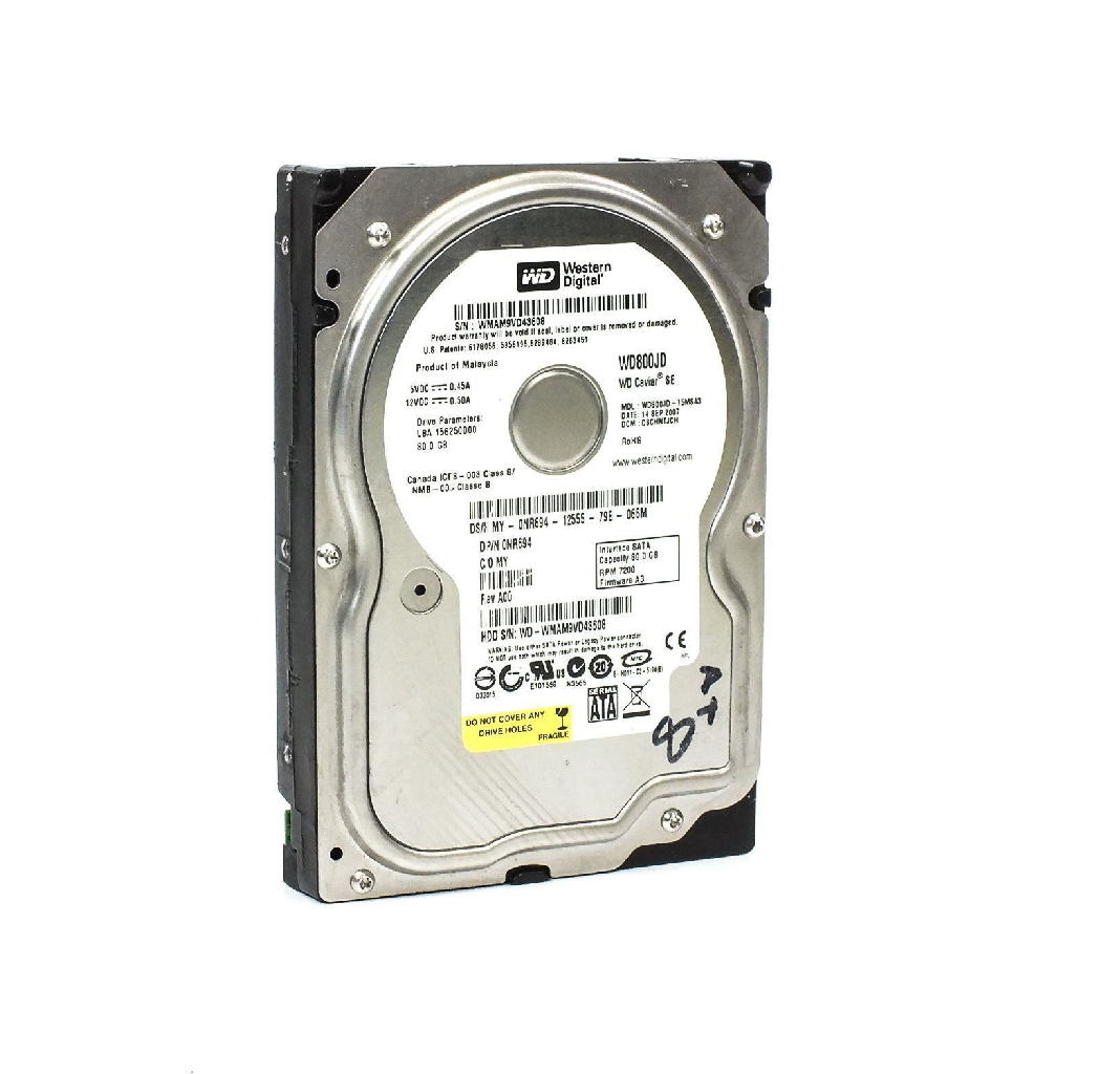 Western Digital WD800JD-75MSA3 DELL 0NR694 80GB Sata Hard Drive NR694