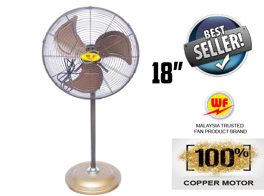 WF INDUSTRIAL ANTIQUE STAND FAN 18˝ ( HEAVY DUTY ) [ FULL COPPER ..