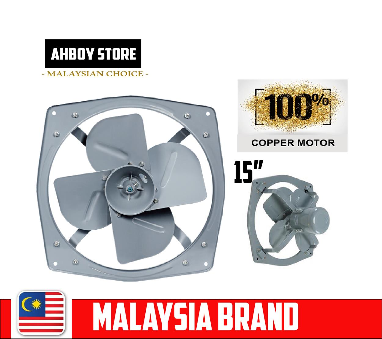 WF INDUSTRIAL HEAVY DUTY 15 inch EXHAUST FAN VENTILATION FAN