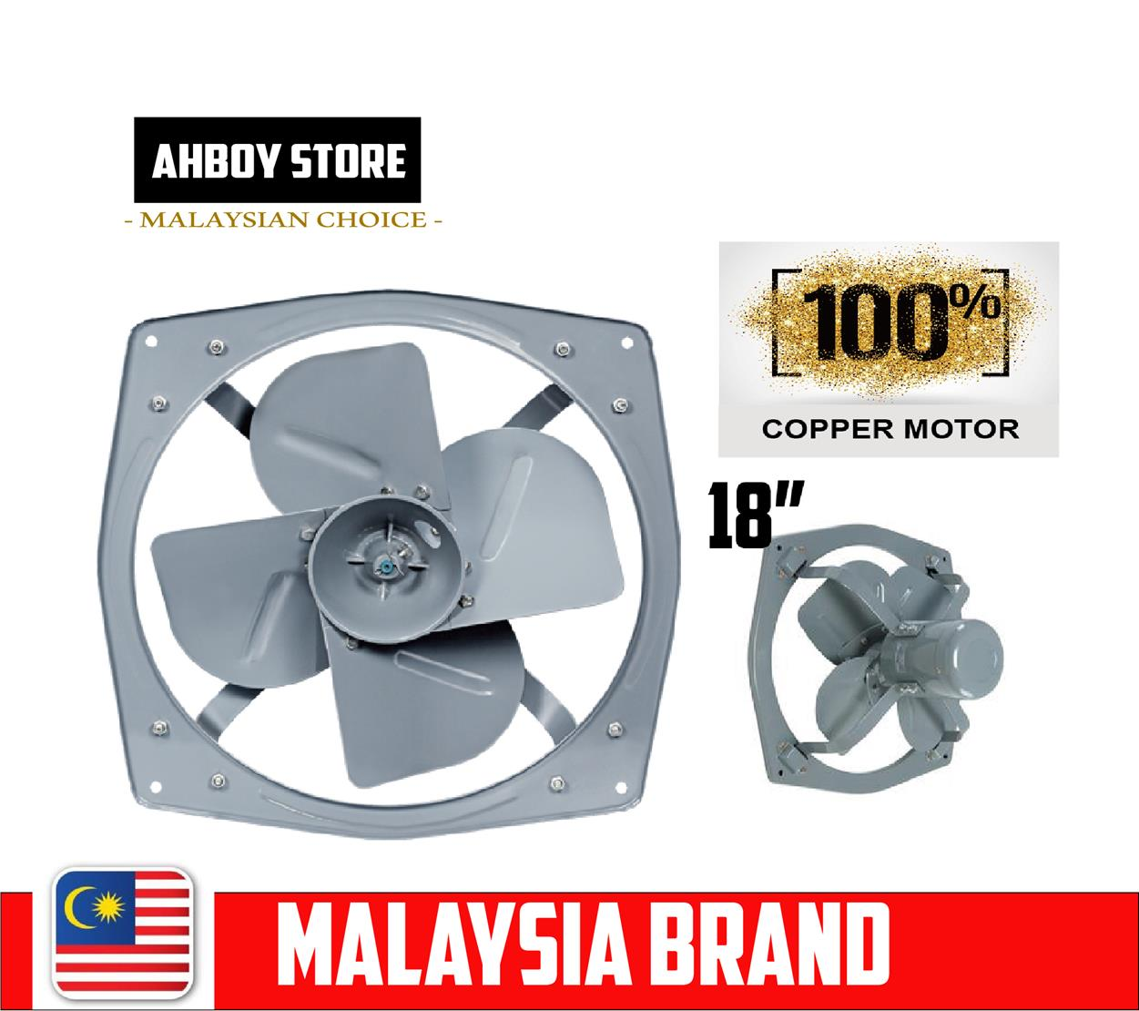 WF INDUSTRIAL HEAVY DUTY 18 inch EXHAUST FAN VENTILATION FAN