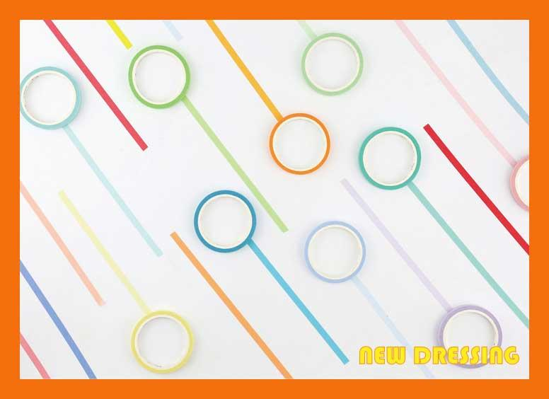 WH045 - 5mm Basic Colour Washi Tape