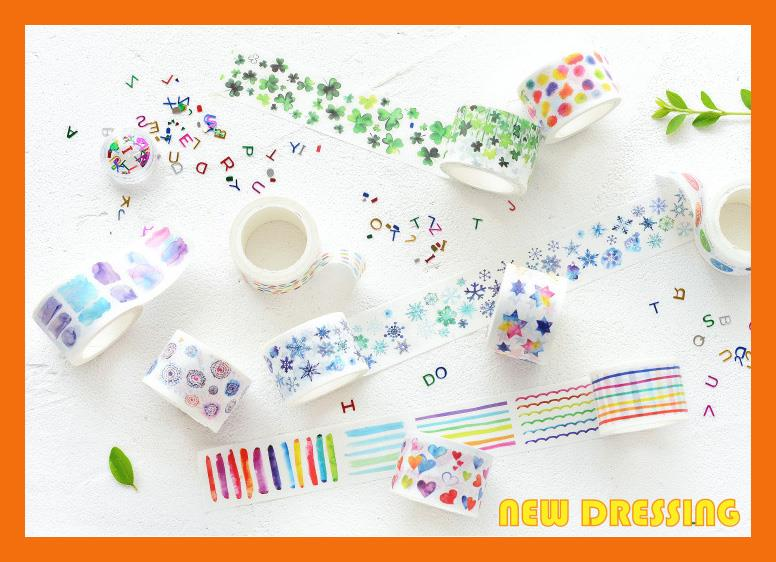 WH260 - Wide Basic Watercolour Washi Tape