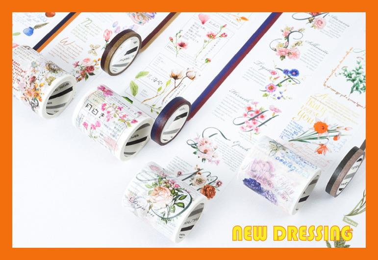 WH315 - The Flowers and Notes Washi Tape