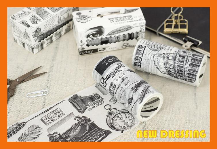 WH362 - Literature and Art Wide Washi Tape (9cm x 5m)