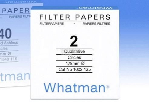 Whatman Grade No. 2 Filter Paper, Laboratory Whatman 1002-125