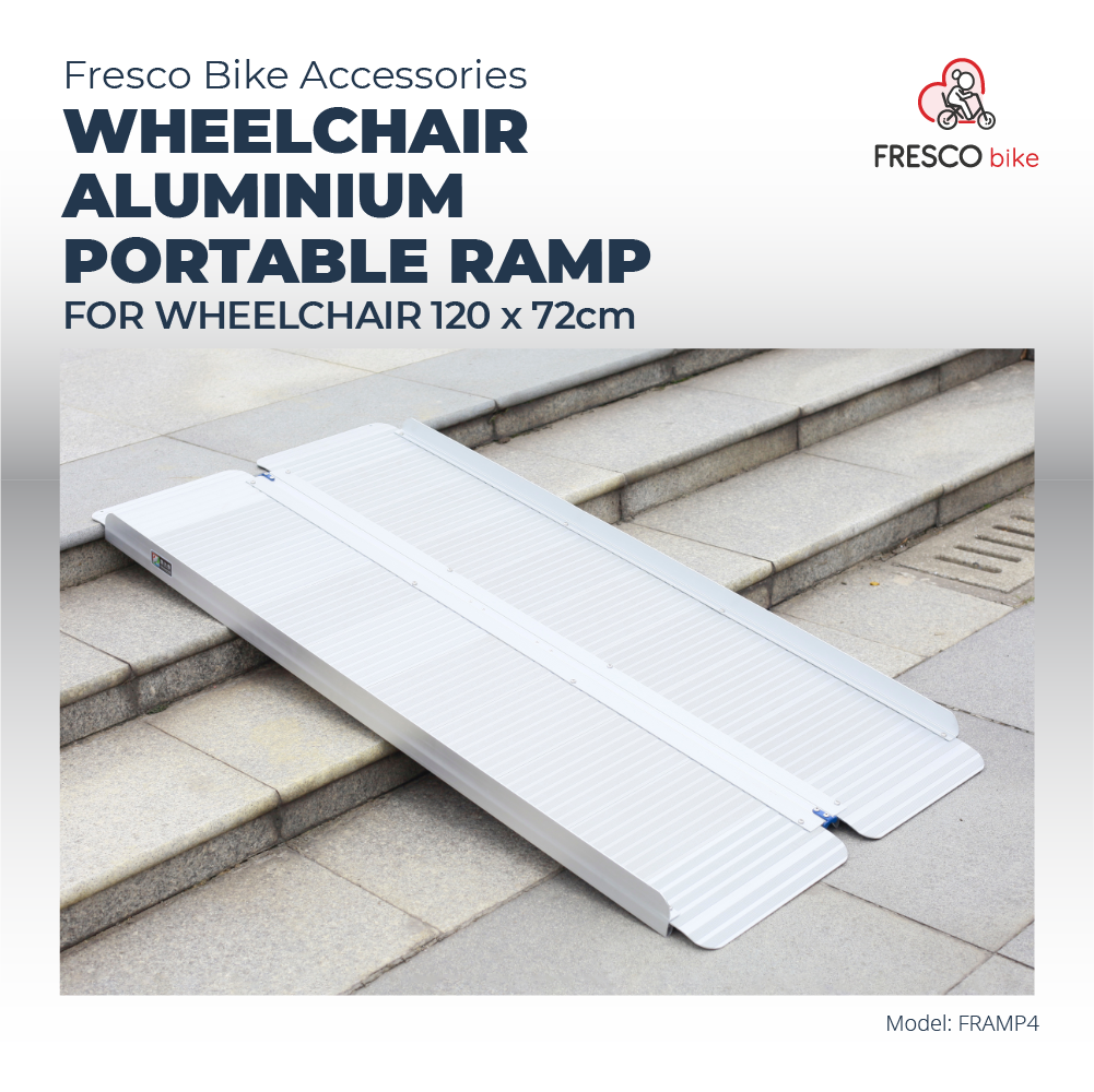 Wheelchair Aluminium Ramp Portable 120 X 72cm