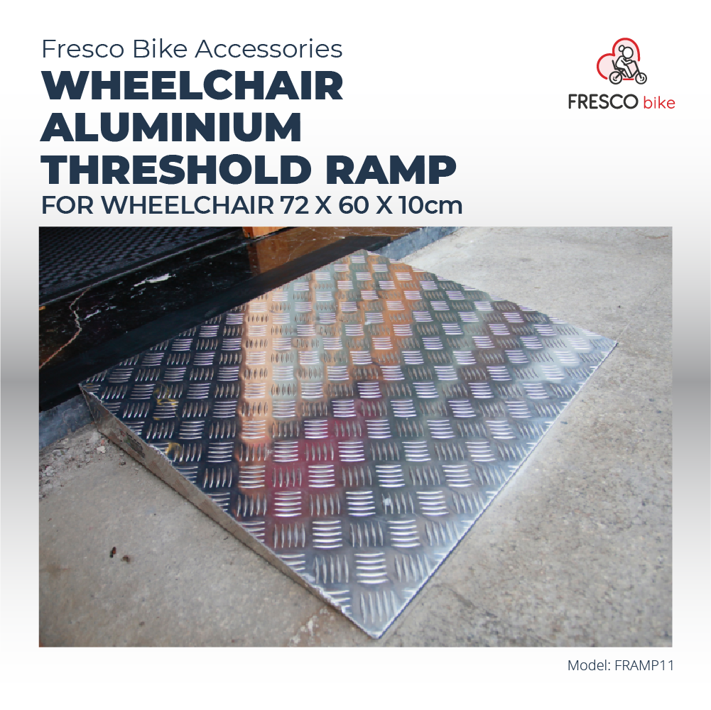 Wheelchair Aluminium Threshold Ramp 72 x 60 x 10cm