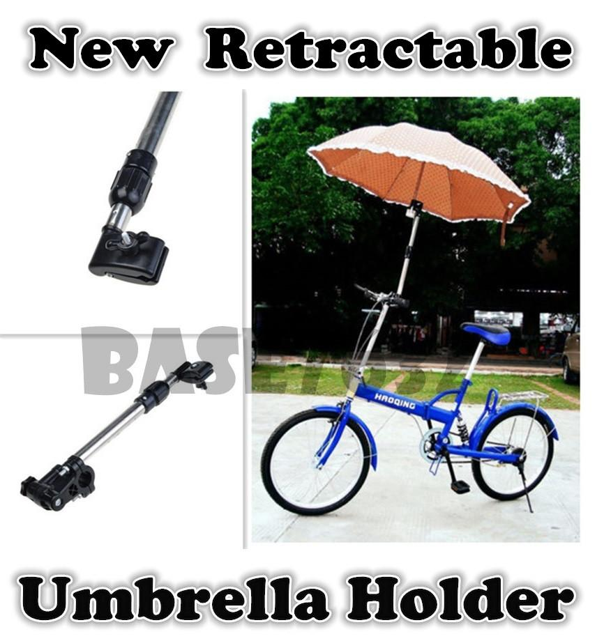 New Wheelchair  Bike Bicycle Stroller Umbrella Holder Stand Frame