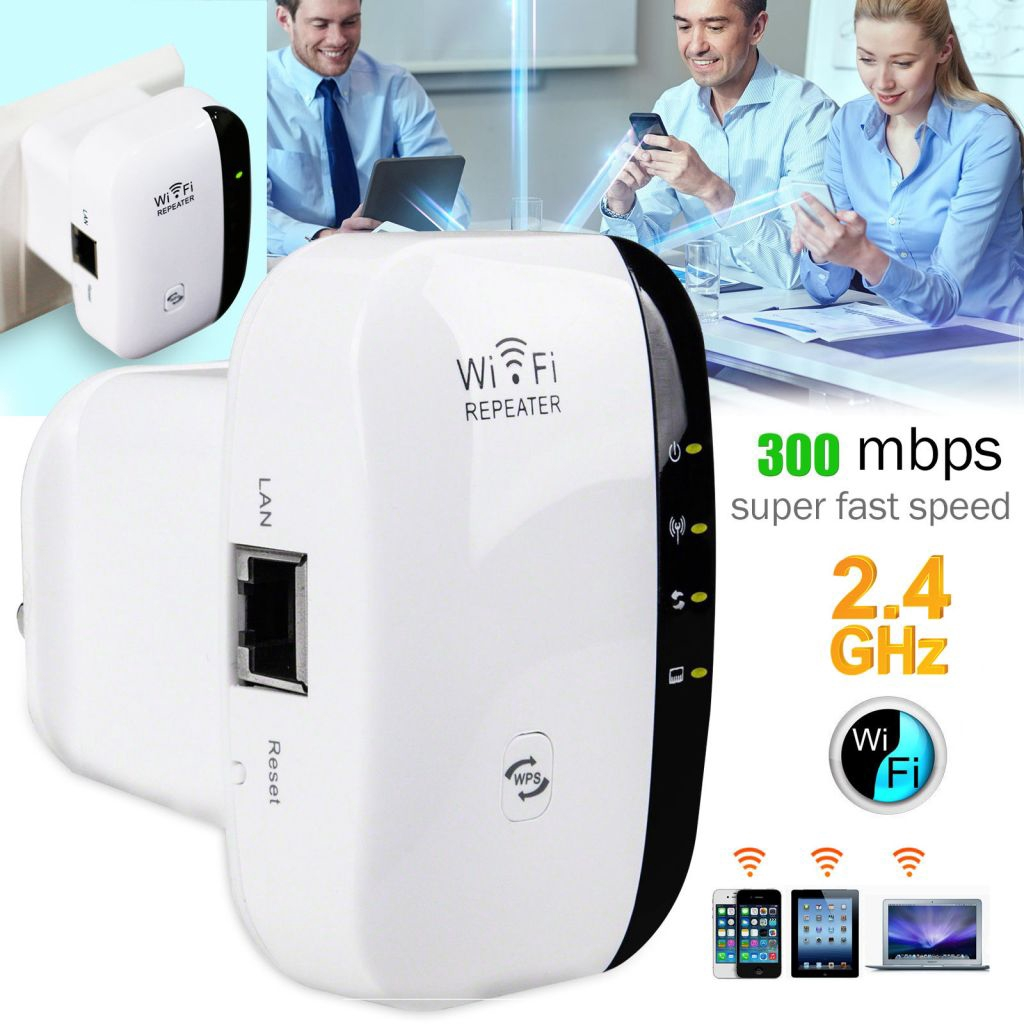 White 300Mbps Wifi Range Extender WIRELESS Booster Repeate - [US PLUG]