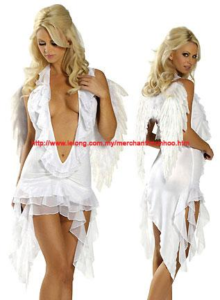 White Angel Lingerie Halloween Cosplay Costume C1209