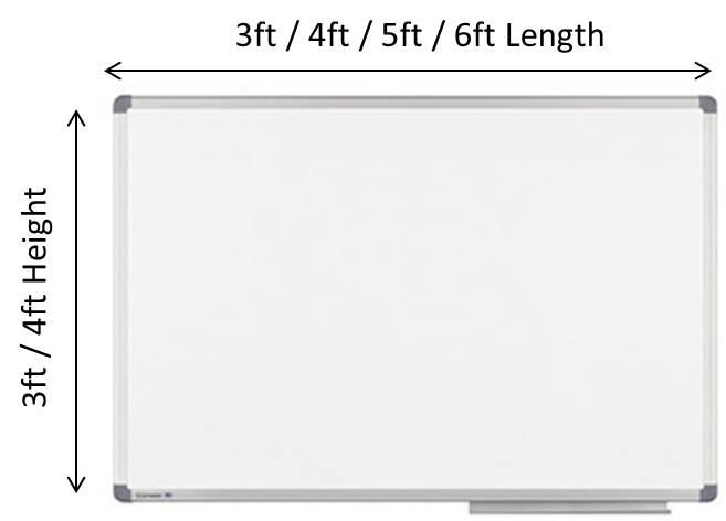 WHITE BOARD 3FT (W) X 3FT (H)