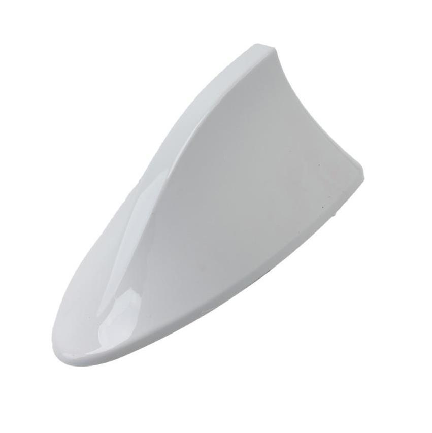 White Color Shark Fin Antenna Universal For Cars