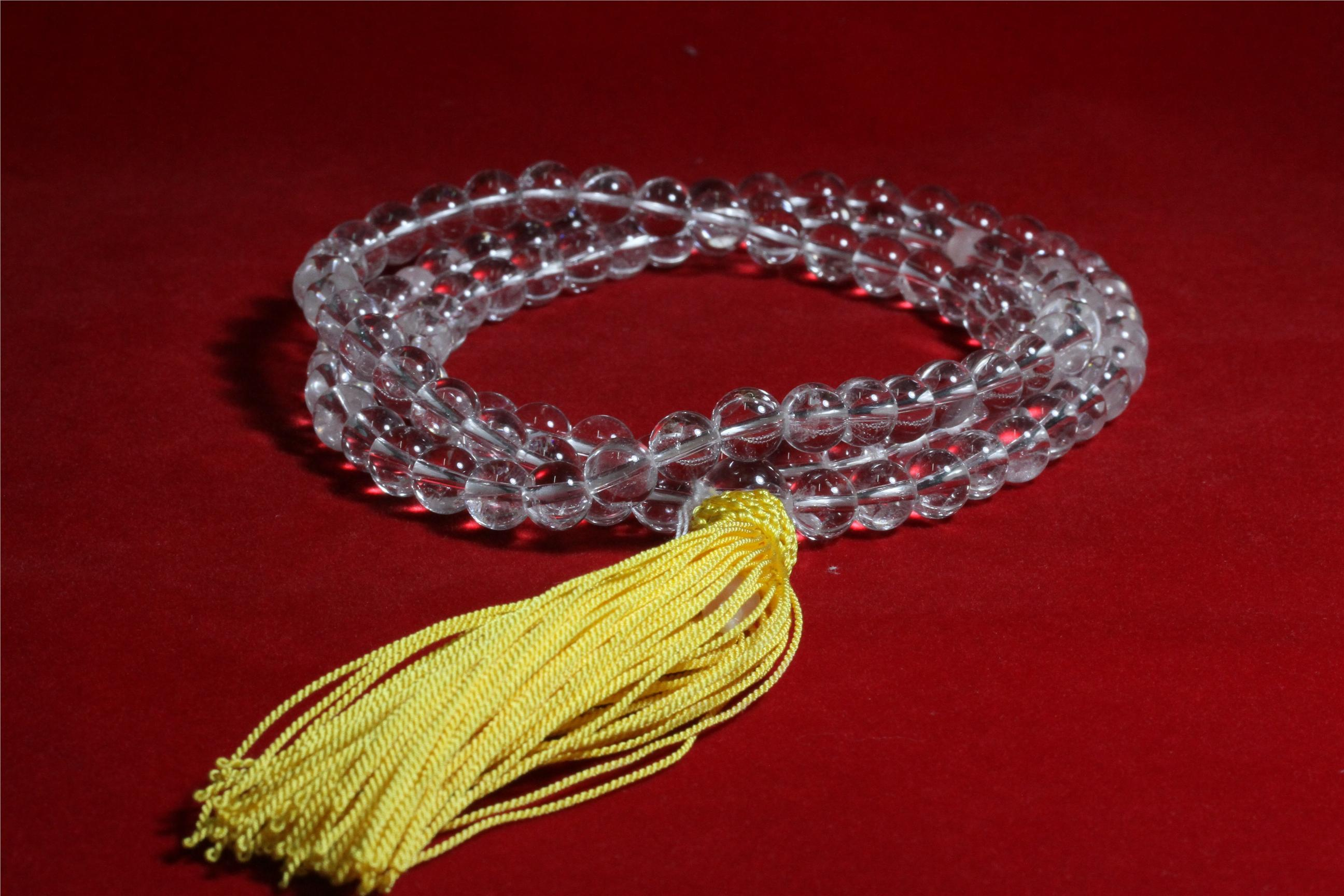 WHITE CRYSTAL ( PRAYER BEAD)