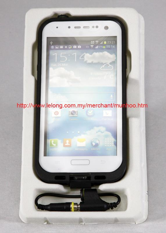 White Dustproof, Waterproof Swim Case Bag Samsung Galaxy S4