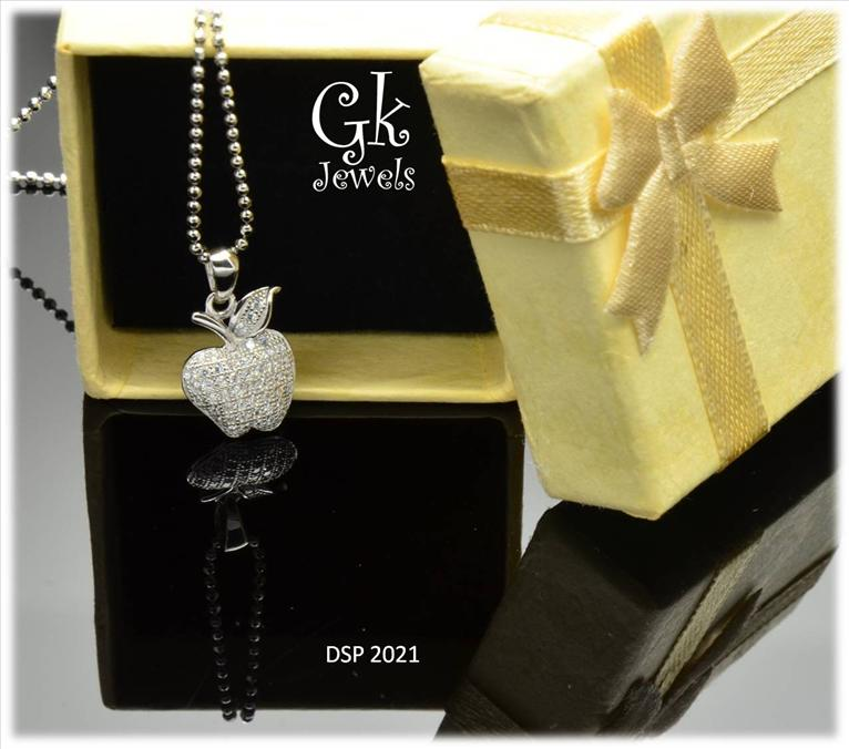 White Gold On 925 Silver Pendant (Fine Setting) DSP 2021
