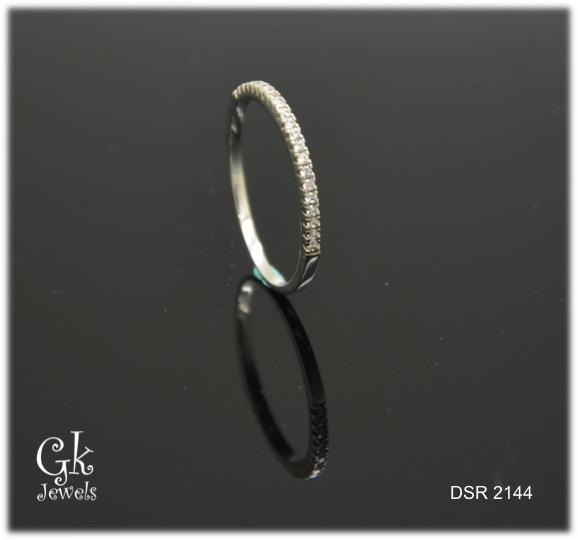 white gold on 925 silver ring DSR 2144