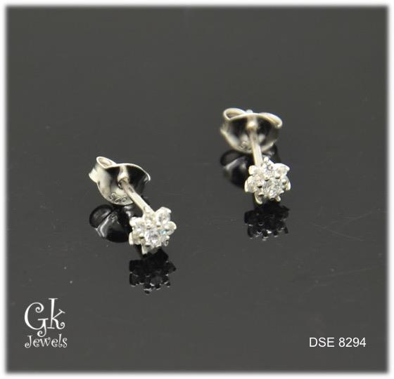 white gold on silver erring DSE 8294