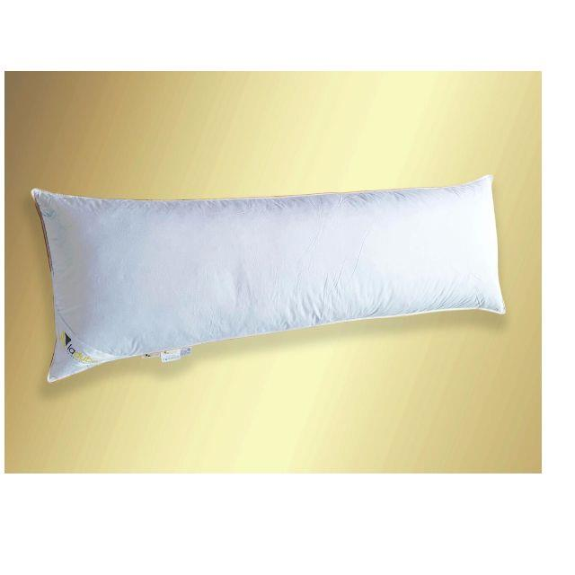 White Goose Down & Feather Body Pillow (With Cover)