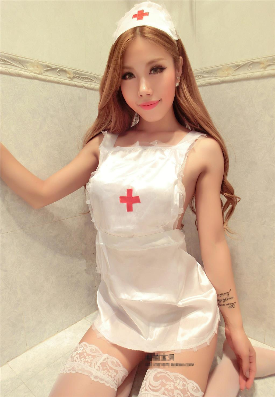 White Ice Silk Nurse Cosplay Costume (end 1 5 2020 4 15 PM) 4c1c2785e