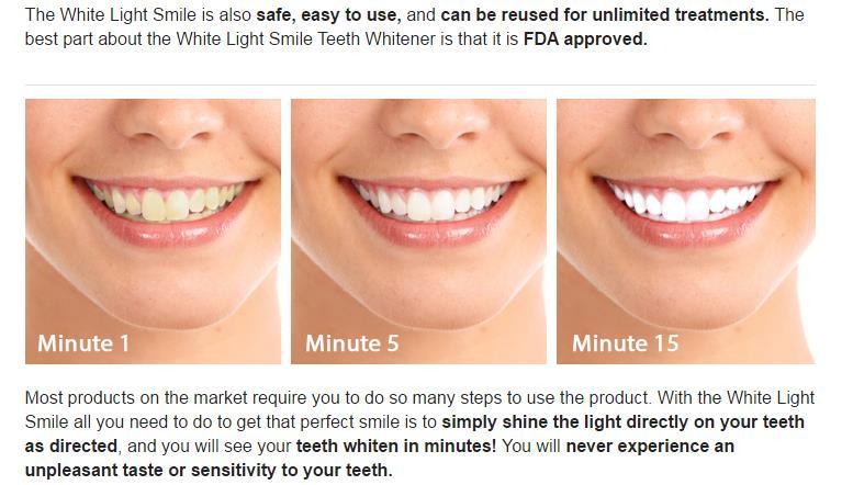White Light Tooth Fast Using Light Laser Technology