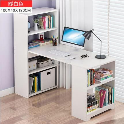 WHITE Office Computer Laptop Wooden Meja Book Home Desk Study Table