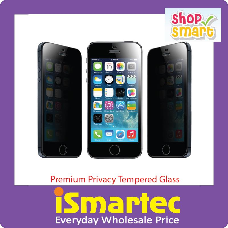 [Wholesale] Apple iPhone 5 5s Premium Privacy Tempered Glass