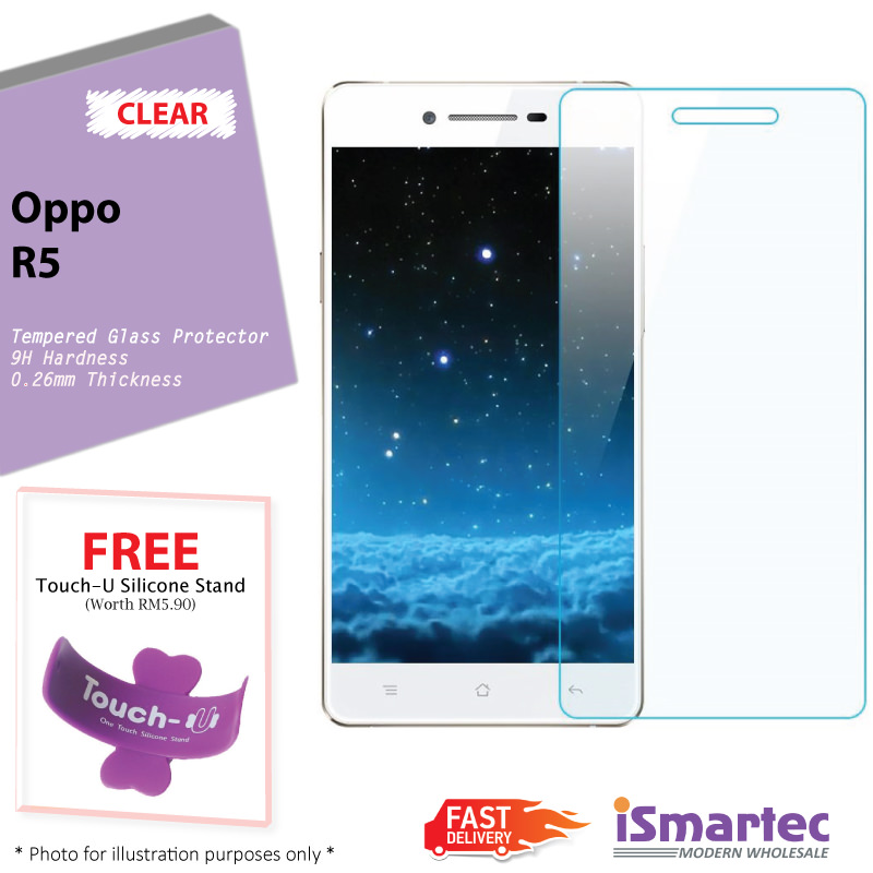 [Wholesale] Oppo R5 Tempered Glass Protector 0.26mm + 9H Hardness (HD .