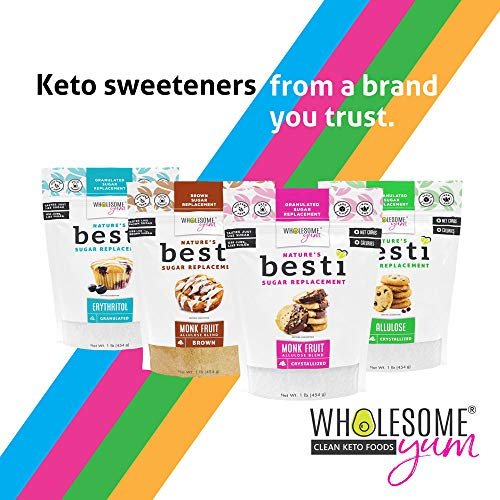 Wholesome Yum Besti 1:1 Natural Powdered Sugar Replacement - Keto Monk Fruit S