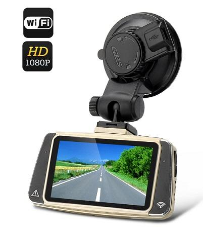 Wifi 1080p Car DVR (WDR, UV Filter, GPS Logger) (WCR-23).