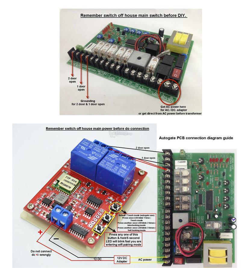 WiFi Autogate Remote Control By Smartphone/Alexa/Google Home