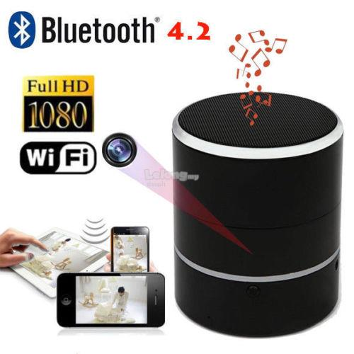 WiFi Camera Wireless Bluetooth Speaker Hidden Spy Camera Network