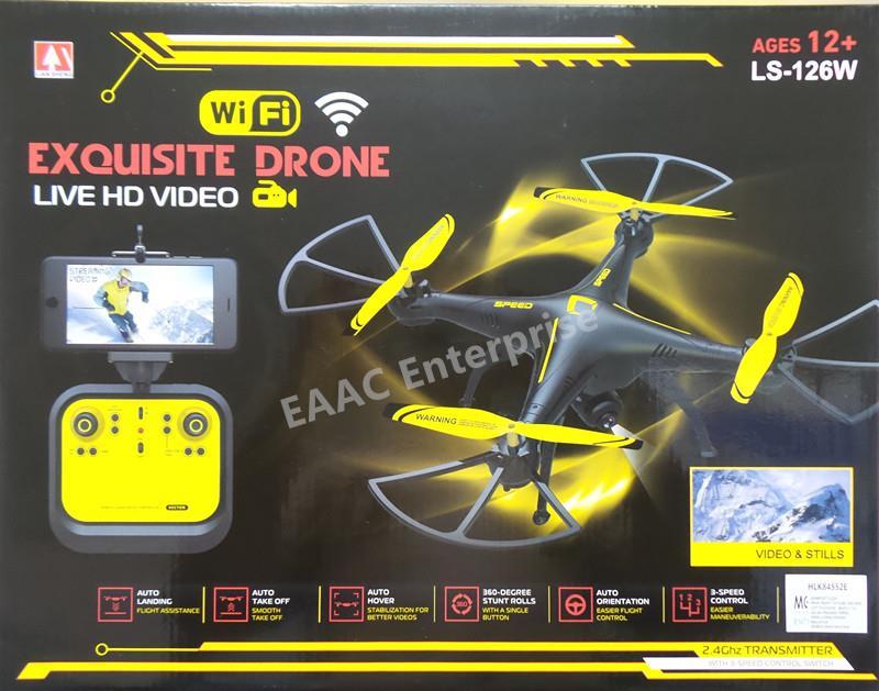 WIFI FPV Camera 2 4G 38cm RC Quadcopter UFO Auto Hover Landing Drone
